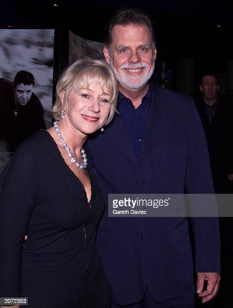 Director Taylor Hackford and actress wife Taylor Hackford at the UK premiere of Hackford's new film Proof of Life at the Warner West End Cinema...