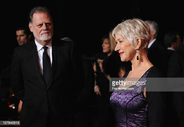 Director Taylor Hackford and Dame Helen Mirren arrives at the 2011 Palm Springs International Film Festival Awards Gala at the Palm Springs...