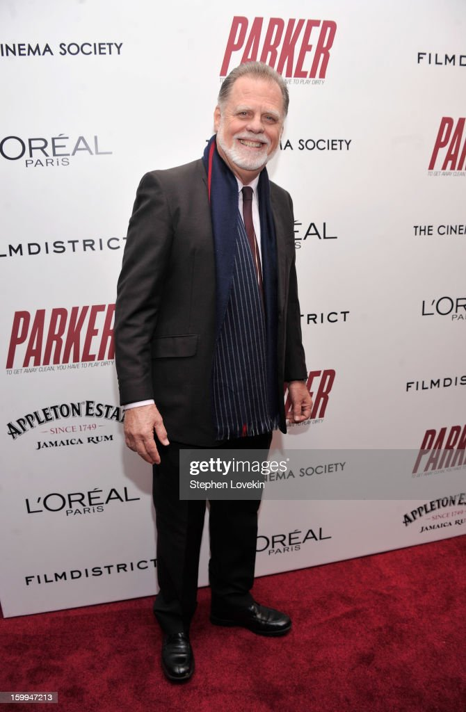 Director Taylor Hackford attends a screening of 'Parker' hosted by FilmDistrict, The Cinema Society, L'Oreal Paris and Appleton Estate at MOMA on January 23, 2013 in New York City.
