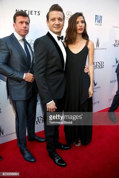 Director Taylor Sheridan and actors Jeremy Renner and Kelsey Asbille attend the 'Wind River' Los Angeles Premiere presented in partnership with FIJI...