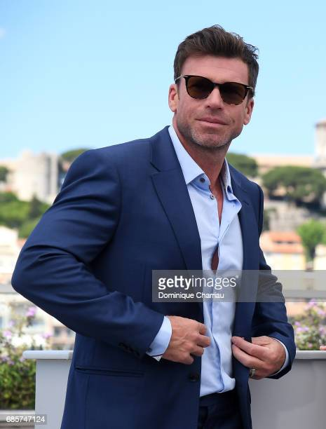 Director Taylor Sheridan attends the 'Wind River' photocall during the 70th annual Cannes Film Festival at Palais des Festivals on May 20 2017 in...