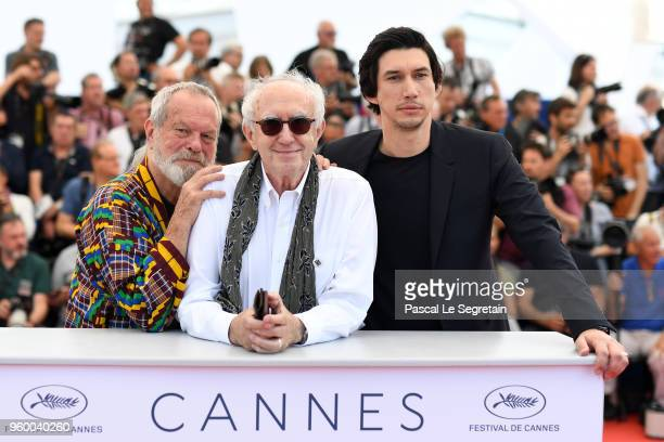 Director Terry Gilliam actor Jonathan Pryce and actor Adam Driver attend The Man Who Killed Don Quixote Photocall during the 71st annual Cannes Film...