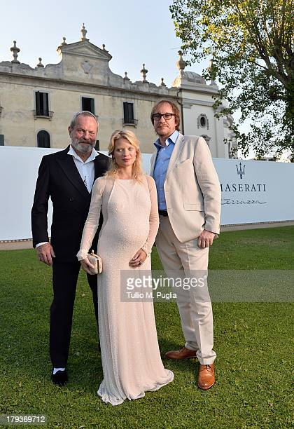 Director Terry Gilliam actress Melanie Thierry and actor David Thewlis attend the 70th Venice International Film Festival at Terrazza Maserati on...