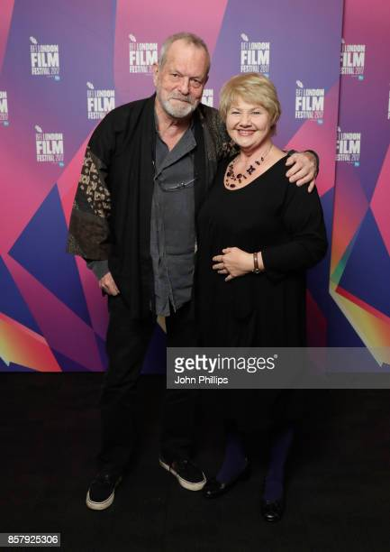 Director Terry Gilliam and actor Annette Badland attend a screening of Jabberwocky during the 61st BFI London Film Festival on October 5 2017 in...