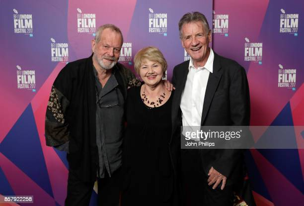 Director Terry Gilliam and actors Annette Badland and Michael Palin attend a screening of 'Jabberwocky' during the 61st BFI London Film Festival on...