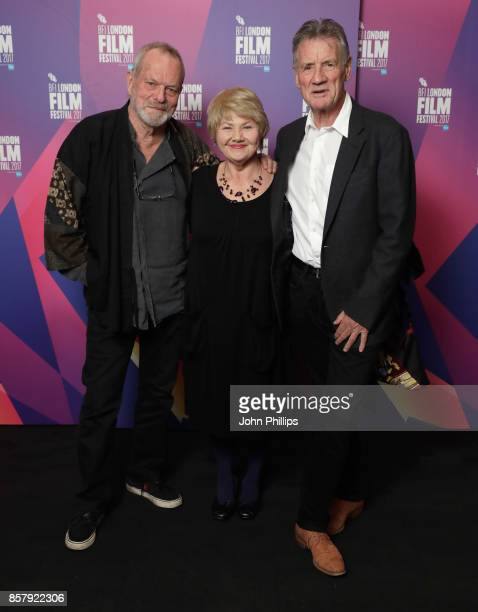 Director Terry Gilliam and actors Annette Badland and Michael Palin attend a screening of Jabberwocky during the 61st BFI London Film Festival on...