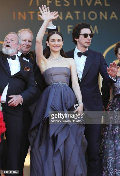 Director Terry Gilliam and actors Stellan Skarsgard Olga Kurylenko Adam Driver attend the Closing Ceremony screening of 'The Man Who Killed Don...