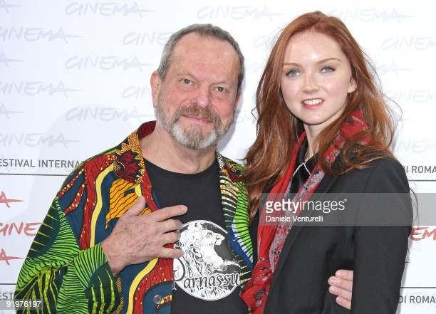 Director Terry Gilliam and actress Lily Cole attend 'The Imaginarium Of Doctor Parnassus' Photocall during day 4 of the 4th Rome International Film...