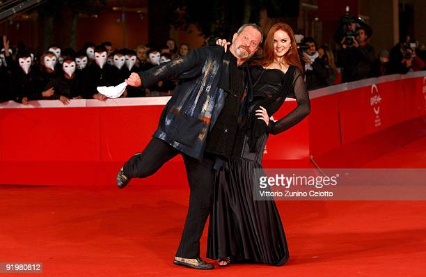 Director Terry Gilliam and actress Lily Cole attend 'The Imaginarium Of Doctor Parnassus' Premiere during day 4 of the 4th Rome International Film...