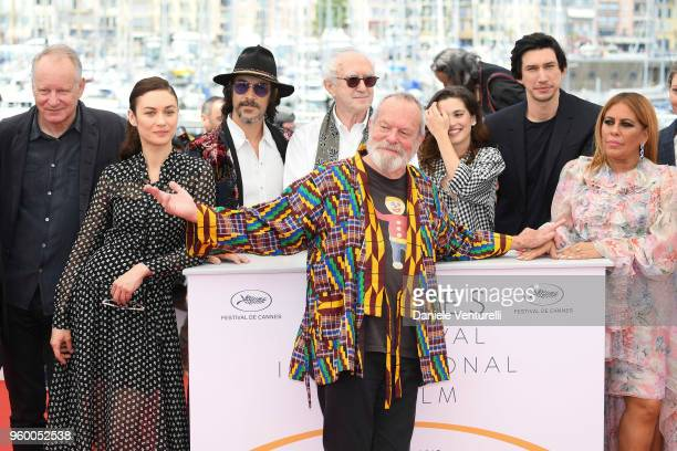 Director Terry Gilliam poses with Jordi Molla Stellan Skarsgard Olga Kurylenko Oscar Jaenada Jonathan Pryce Joana Ribeiro Adam Driver and Alessandra...