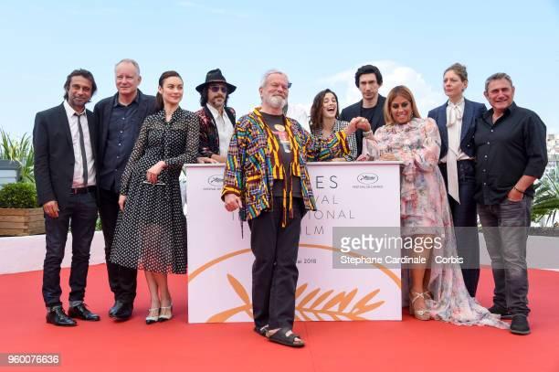 Director Terry Gilliam poses with Jordi Molla Stellan Skarsgard Olga Kurylenko Oscar Jaenada Jonathan Pryce Joana Ribeiro Adam Driver Alessandra Lo...