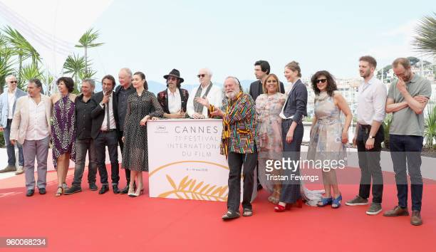 Director Terry Gilliam presents the cast and crew of 'The Man Who Killed Don Quixote' Photocall during the 71st annual Cannes Film Festival at Palais...