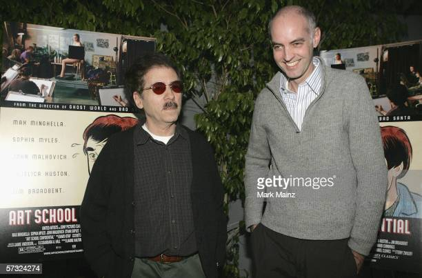 Director Terry Zwigoff and writer Daniel Clowes attend the premiere of Art School Confidential on April 11 2006 at the Harmony Gold Preview House in...