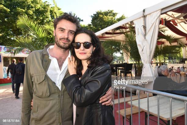 Director Thibault Ameline and actress Chloe Lambert attend Fete des Tuileries on June 22, 2018 in Paris, France.