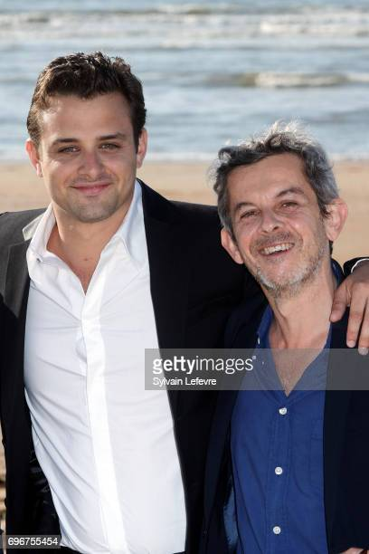 Director Thierry De Peretti HenriNoel Tabary attend photocall for 'Une vie violente' during 3rd day of the 31st Cabourg Film Festival on June 16 2017...