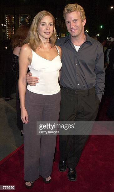 Director Thomas Jane attends the premiere of his new film Under Suspicion with his girlfriend Olivia D''Abo in Santa Monica CA September 18 2000