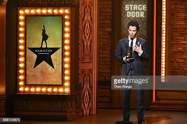 Director Thomas Kail of Hamilton accepts an award onstage during the 70th Annual Tony Awards at The Beacon Theatre on June 12 2016 in New York City