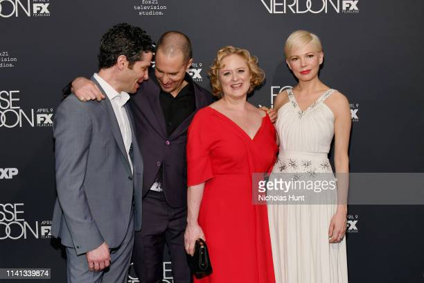Director Thomas Kail Sam Rockwell Nicole Fosse and Michelle Williams attends the New York Premiere for FX's Fosse/Verdon on April 08 2019 in New York...