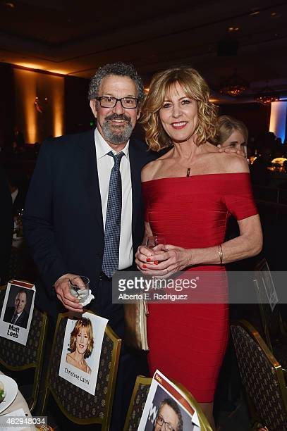 Director Thomas Schlamme and actress Christine Lahti attend the 67th Annual Directors Guild Of America Awards at the Hyatt Regency Century Plaza on...