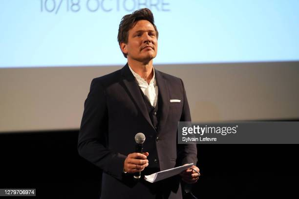 """Director Thomas Vinterberg attends the premiere of """"Drunk"""" during the 12th Film Festival Lumiere on October 11, 2020 in Lyon, France."""