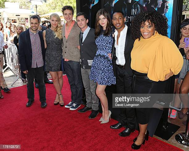 Director Thor Freudenthal and actors Leven Rambin Douglas Smith Logan Lerman Alexandra Daddario Brandon T Jackson and Yvette Nicole Brown attend a...