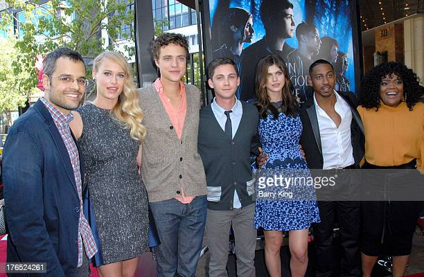 Director Thor Freudenthal and actors Leven Rambin Douglas Smith Logan Lerman Alexandra Daddario Brandon T Jackson and Yvette Nicole Brown attend the...