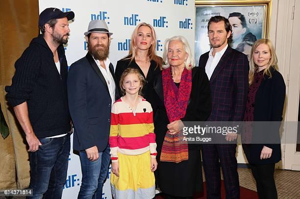 Director Till Endemann with actors Joi Johannsson Franke Potente Hildegard Schmahl Felix Klare and Maya Bothe during the 'Der IslandKrimi Der Tote im...