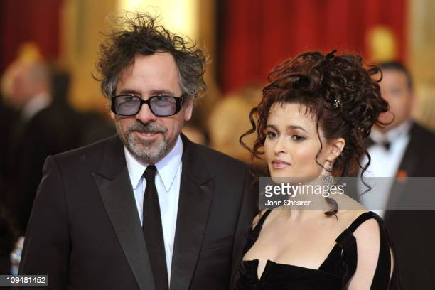 Director Tim Buron and wife actress Helena Bonham Carter arrive at the 83rd Annual Academy Awards held at the Kodak Theatre on February 27, 2011 in...