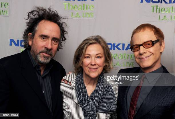 Director Tim Burton actress Catherine O'Hara and composer Danny Elfman attend Danny Elfman's Music from the films of Tim Burton at Nokia Theatre LA...