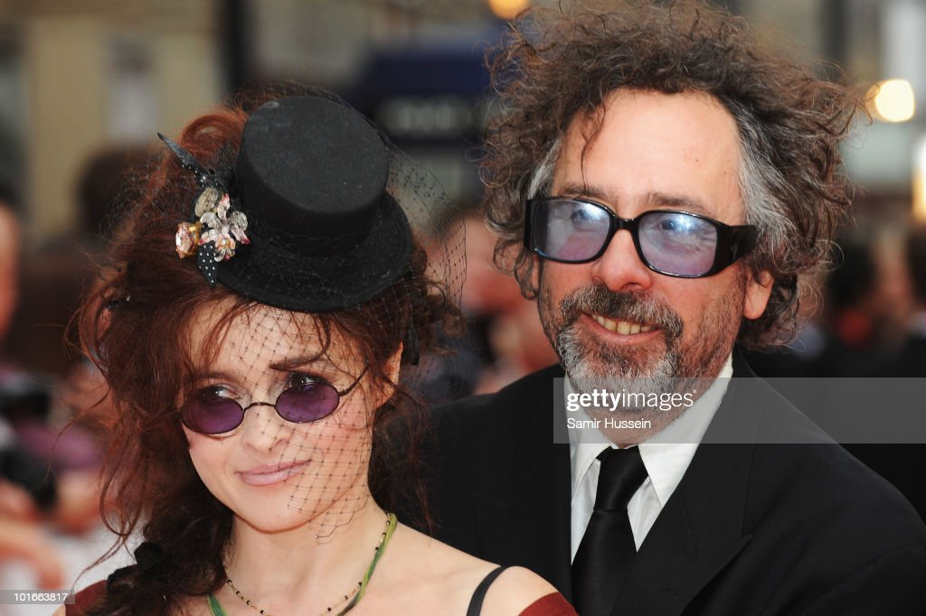 Director Tim Burton and his wife Helena Bonham Carter arrive for the Philips British Academy Television Awards at the London Palladium on June 6, 2010 in London, England.
