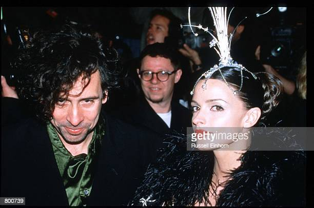 Director Tim Burton and wife Lisa Marie attend the premiere of Mars Attacks at Mann's Chinese Theater December 12 1996 in Los Angeles CA The scifi...