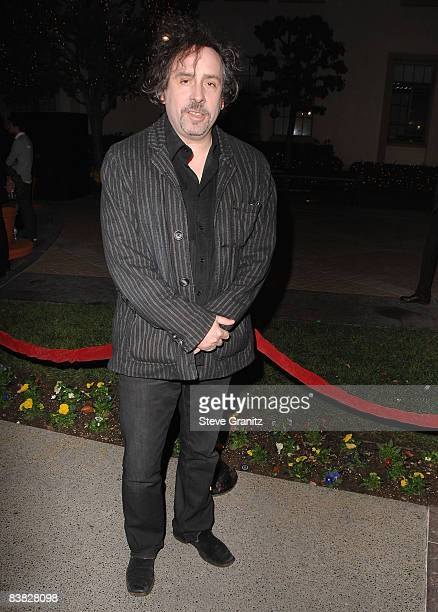 Director Tim Burton arrives at a special screening for DreamWorks Pictures' 'Sweeney Todd' at the Paramount Theater on December 5, 2007 in Los...