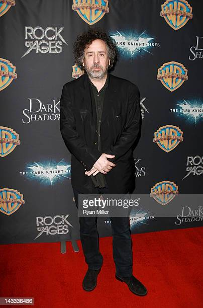 Director Tim Burton arrives at Caesars Palace during CinemaCon the official convention of the National Association of Theatre Owners April 24 2012 in...