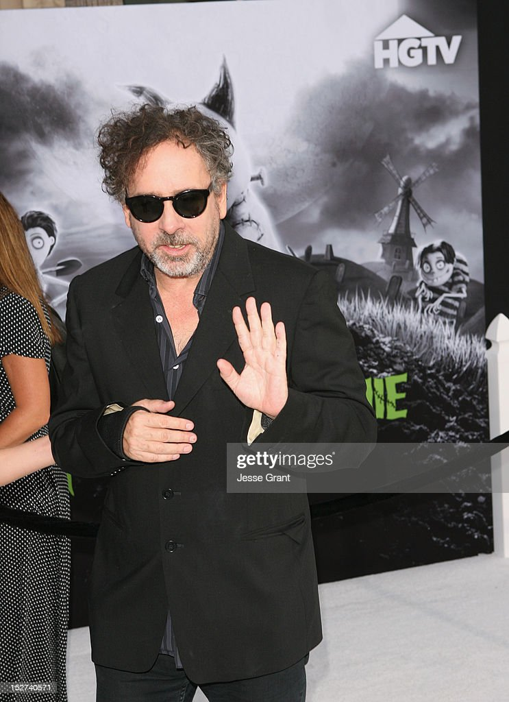 Director Tim Burton arrives at Disney's 'Frankenweenie' premiere at the El Capitan Theatre on September 24, 2012 in Hollywood, California.