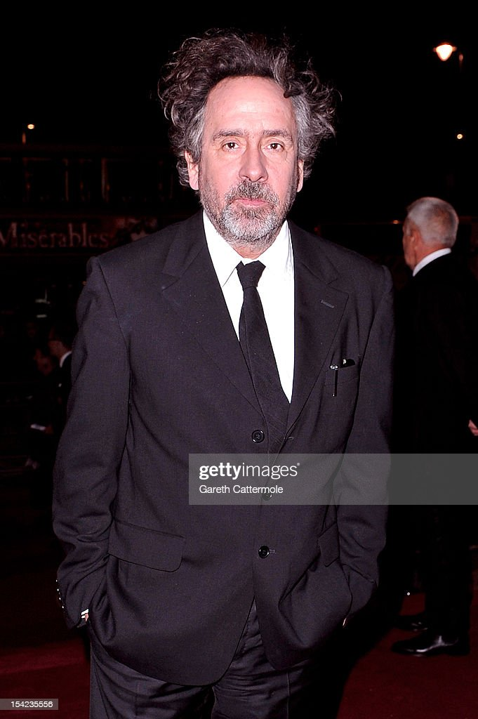 Director Tim Burton arrives at the launch dinner for the new Hollywood Costume exhibition at the V&A Museum on October 16, 2012 in London, England. The exhibition will open from October 20th at The V&A.