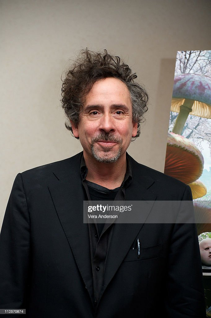Director Tim Burton at the 'Alice In Wonderland' press conference at the Renaissance Hollywood Hotel on February 20, 2010 in Hollywood, California.