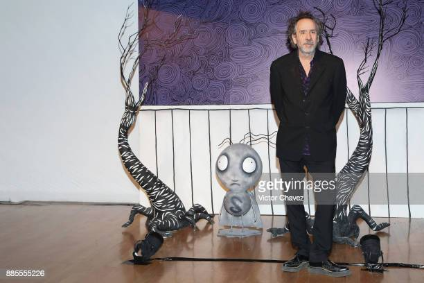 Director Tim Burton attends a photocall during the opening of 'The World Of Tim Burton' exhibition at Franz Mayer Museum on December 4 2017 in Mexico...