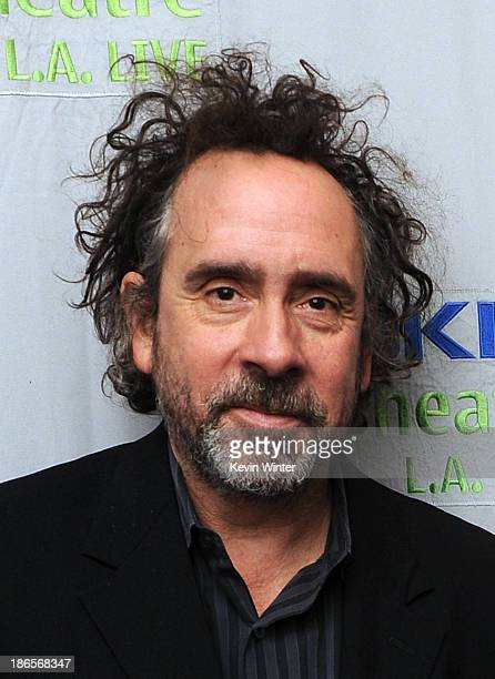 Director Tim Burton attends Danny Elfman's Music from the films of Tim Burton at Nokia Theatre LA Live on October 31 2013 in Los Angeles California