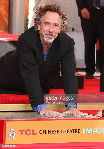 Director Tim Burton attends his hand and footprint ceremony at The TCL Chinese Theatre on September 8 2016 in Hollywood California