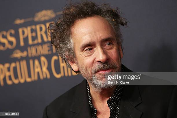 Director Tim Burton attends the 'Miss Peregrine's Home for Peculiar Children' New York premiere held at Saks Fifth Avenue on September 26 2016 in New...