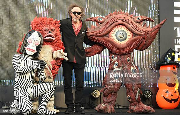 Director Tim Burton attends the opening ceremony of the World of Tim Burton exhibition at Roppongi Hills arena on October 31 2014 in Tokyo Japan