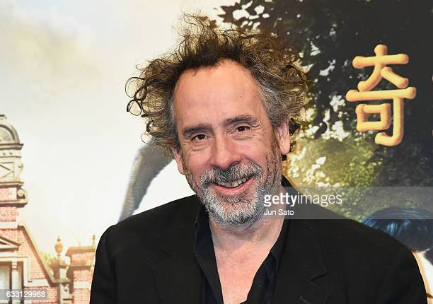 Director Tim Burton attends the press conference for the Japanese premiere of 'Miss Peregrine's Home for Peculiar Children' on January 31 2017 in...