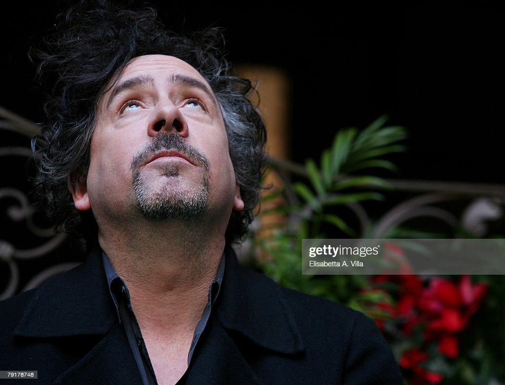 Director Tim Burton attends the 'Sweeney Todd' photocall at Hassler Hotel on January 23, 2008 in Rome, Italy.