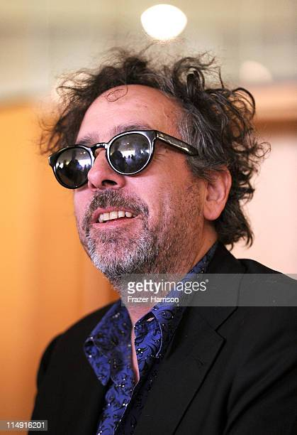 Director Tim Burton signs copies of his Exhibition Catalogue And The Art Of Tim Burton at LACMA where his work is currently been exhibited on May 28...