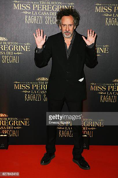 Director Tim Burton walks the red carpet for Tim Burton's 'Miss Peregrine's Home for Peculiar Children' on December 5 2016 in Rome Italy