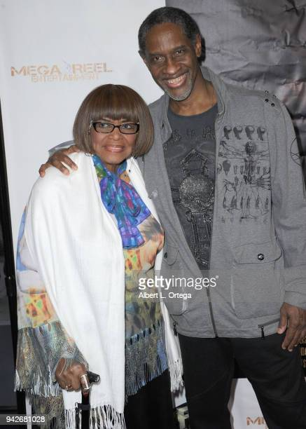 Director Tim Russ and mother arrive for the Los Angeles Premiere of 'Miles To Go' held at Writers Guild Theater on April 5 2018 in Beverly Hills...