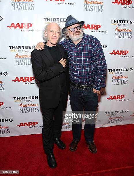 Director Timothy GreenfieldSanders and Hal Willner attend American Masters The Boomer List NYC Premiere on September 18 2014 in New York City