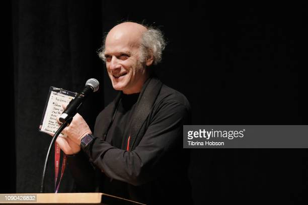 Director Timothy GreenfieldSanders speaks onstage during the 'Toni Morrison The Pieces I Am' Premiere during the 2019 Sundance Film Festival at The...