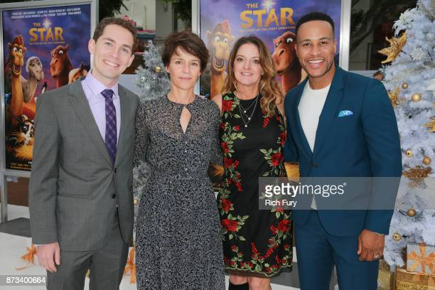 Director Timothy Reckart Sony Pictures Animation President Kristine Belson Producer Jennifer MageeCook and Executive Producer DeVon Franklin attend...