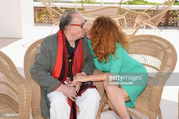Director Tinto Brass and actress Caterina Varzi are seen during the 70th Venice International Film Festival on August 30, 2013 in Venice, Italy.